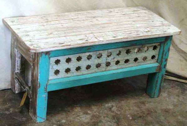 Old teakwood coffee table, India