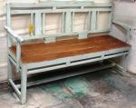 Old teak wood bench