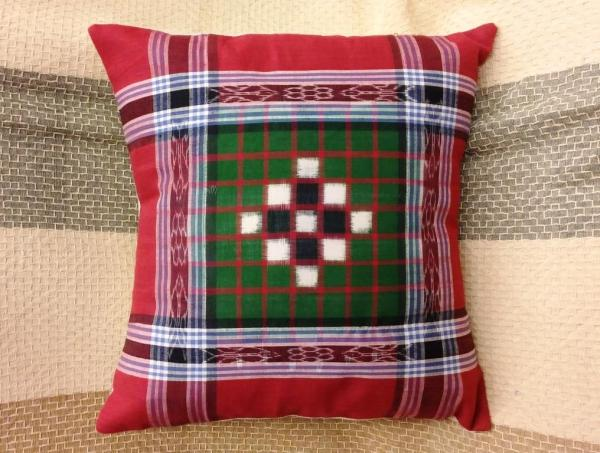 Double ikat cushion cover 40cm