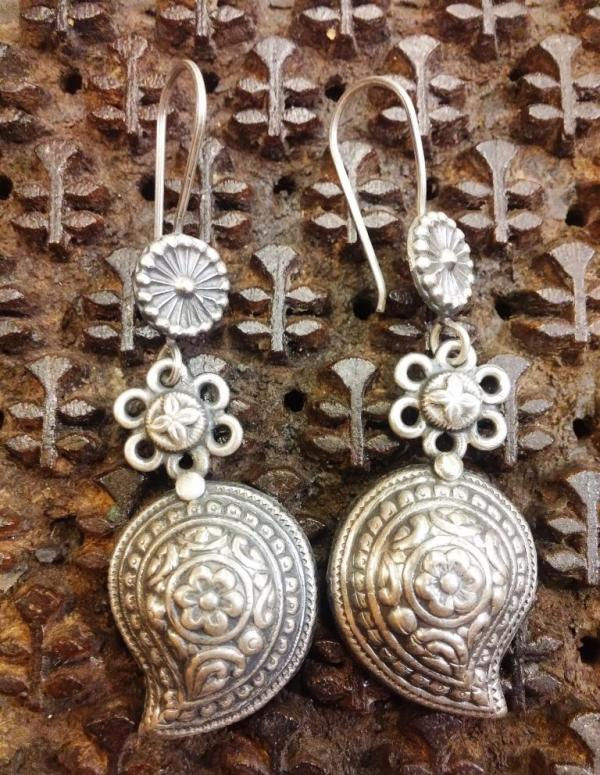 Silver earings, India