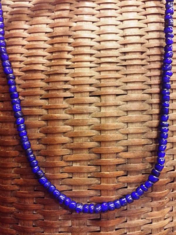 Handcrafted glass bead necklace, India