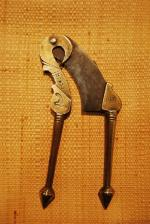Old brass betel cutter, India