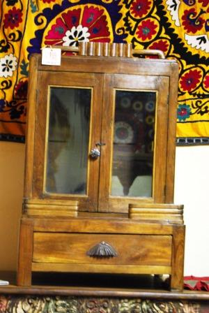 Old glass cabinet, India