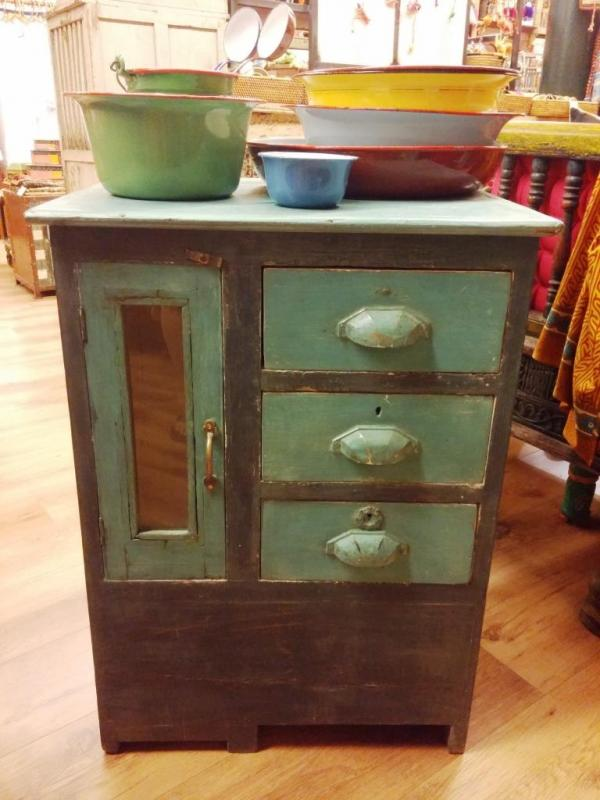 Vitrina vintage de teka india productos muebles - Trobal muebles ...