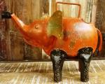 Hand painted iron watering can
